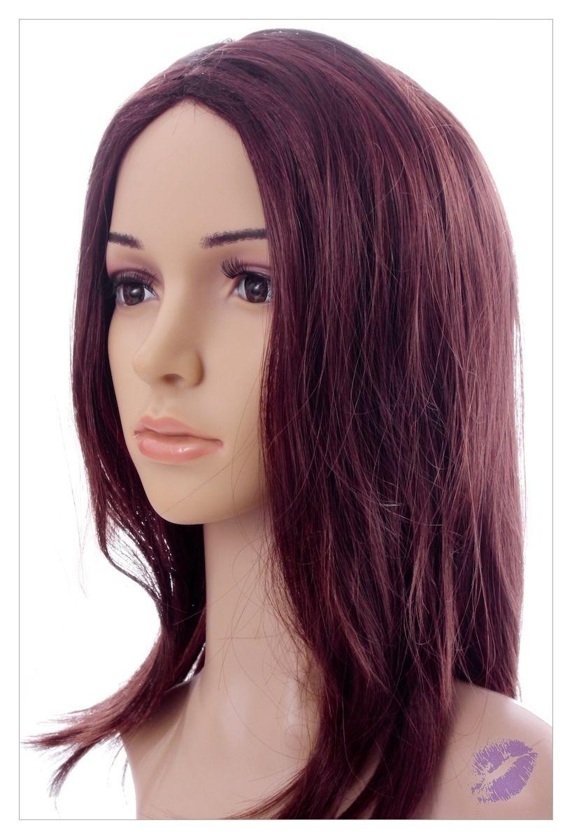 Naturally Straight Hair Synthetic Wig Mahogany Chestnut Shade, Length 22 inch-1635