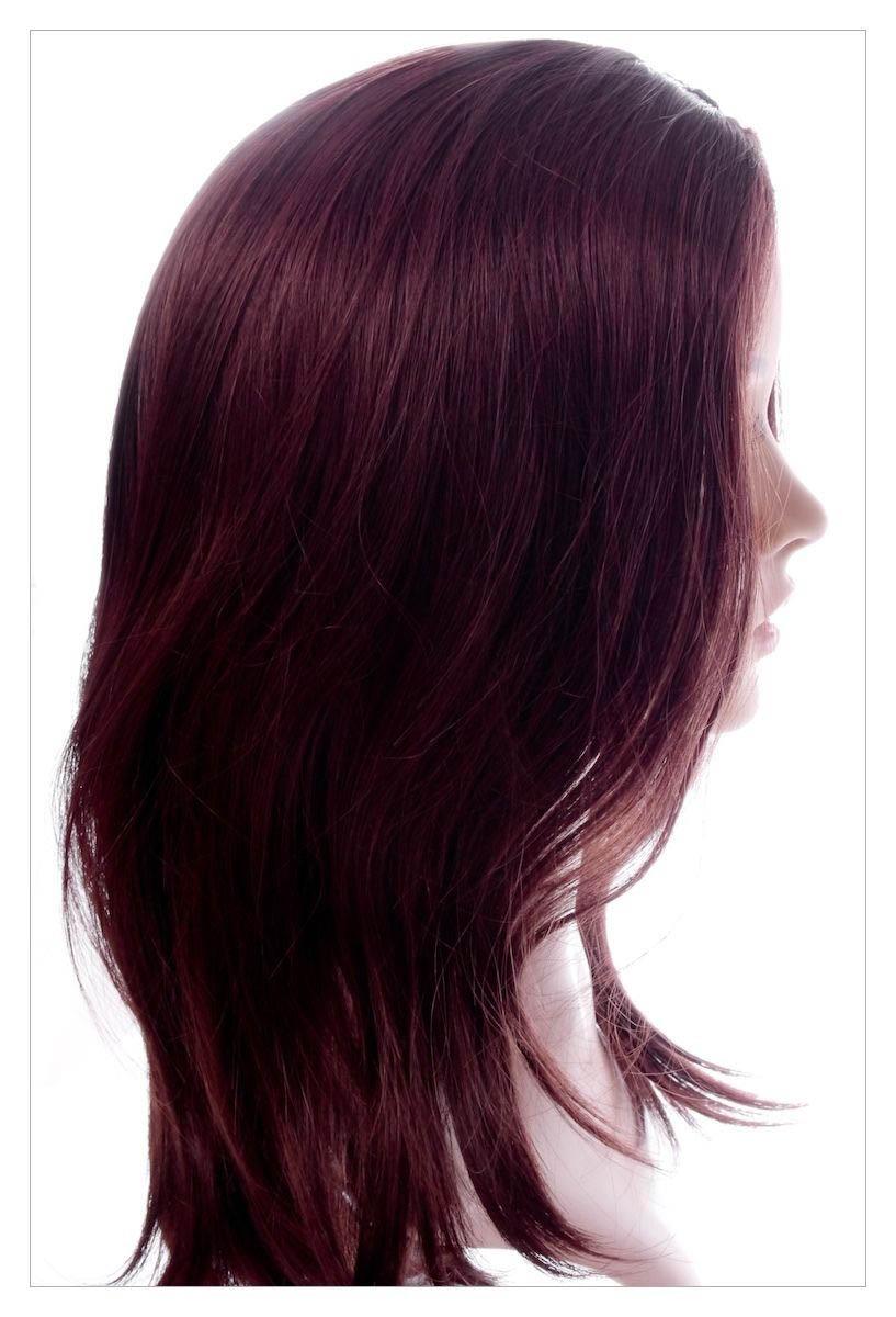 Naturally Straight Hair Synthetic Wig Mahogany Chestnut Shade, Length 22 inch-1632