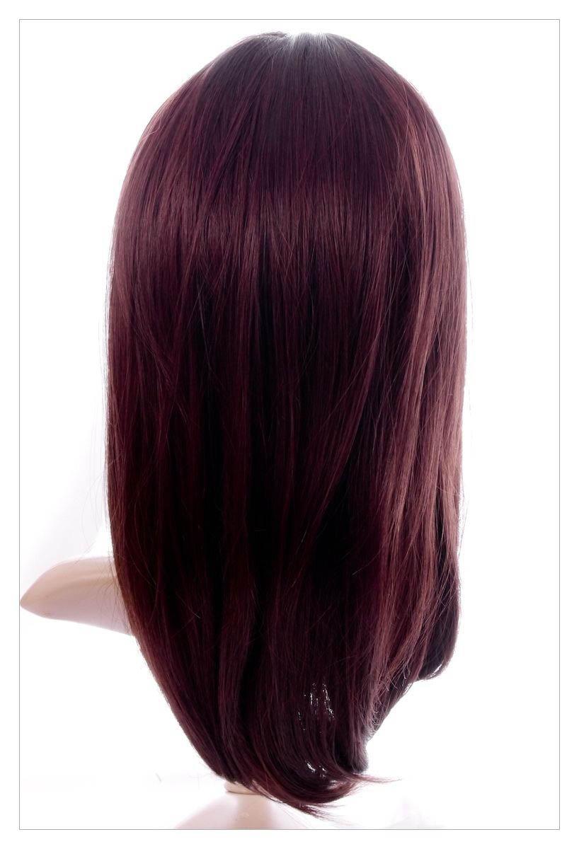 Naturally Straight Hair Synthetic Wig Mahogany Chestnut Shade, Length 22 inch-1634