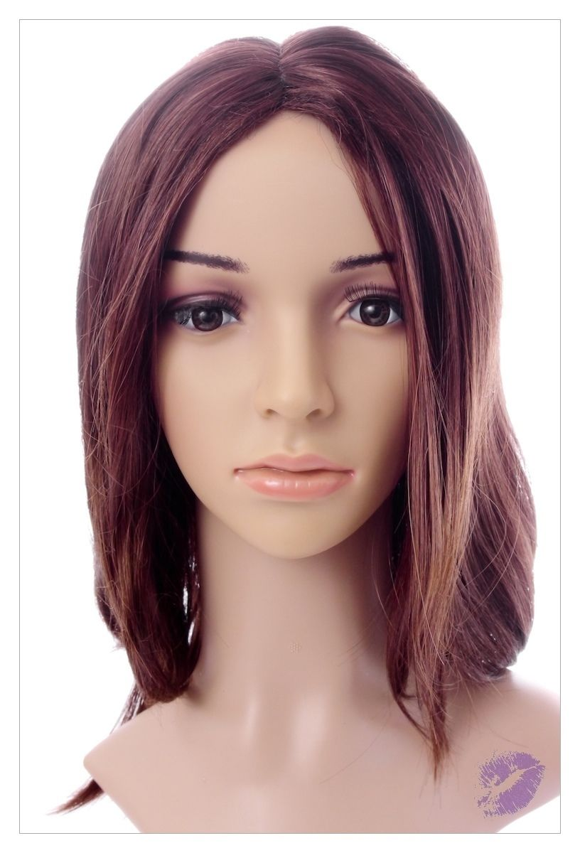 Amazing Dark Brown Auburn Mix Lady Wig! Wigs UK!-0