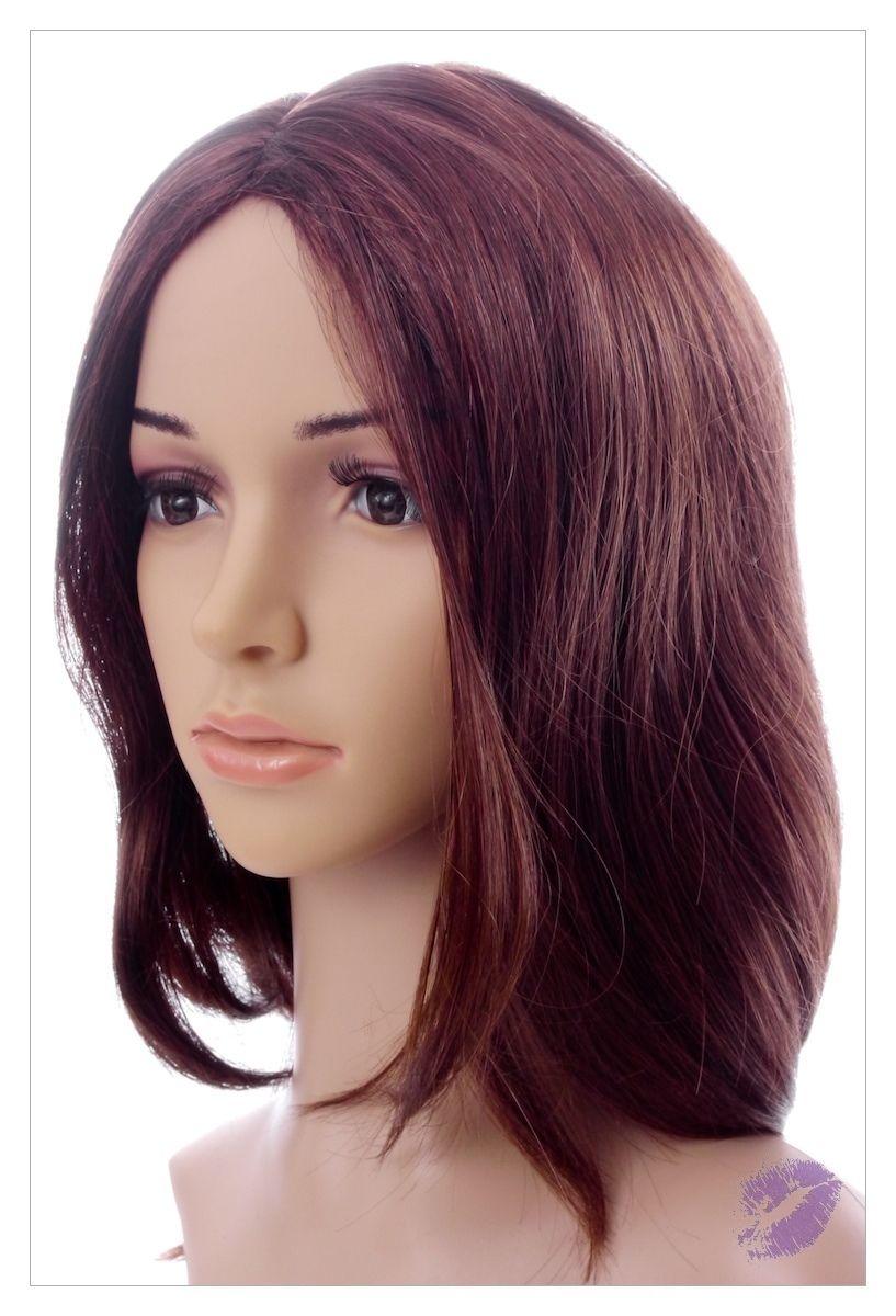 Amazing Dark Brown Auburn Mix Lady Wig! Wigs UK!-1614