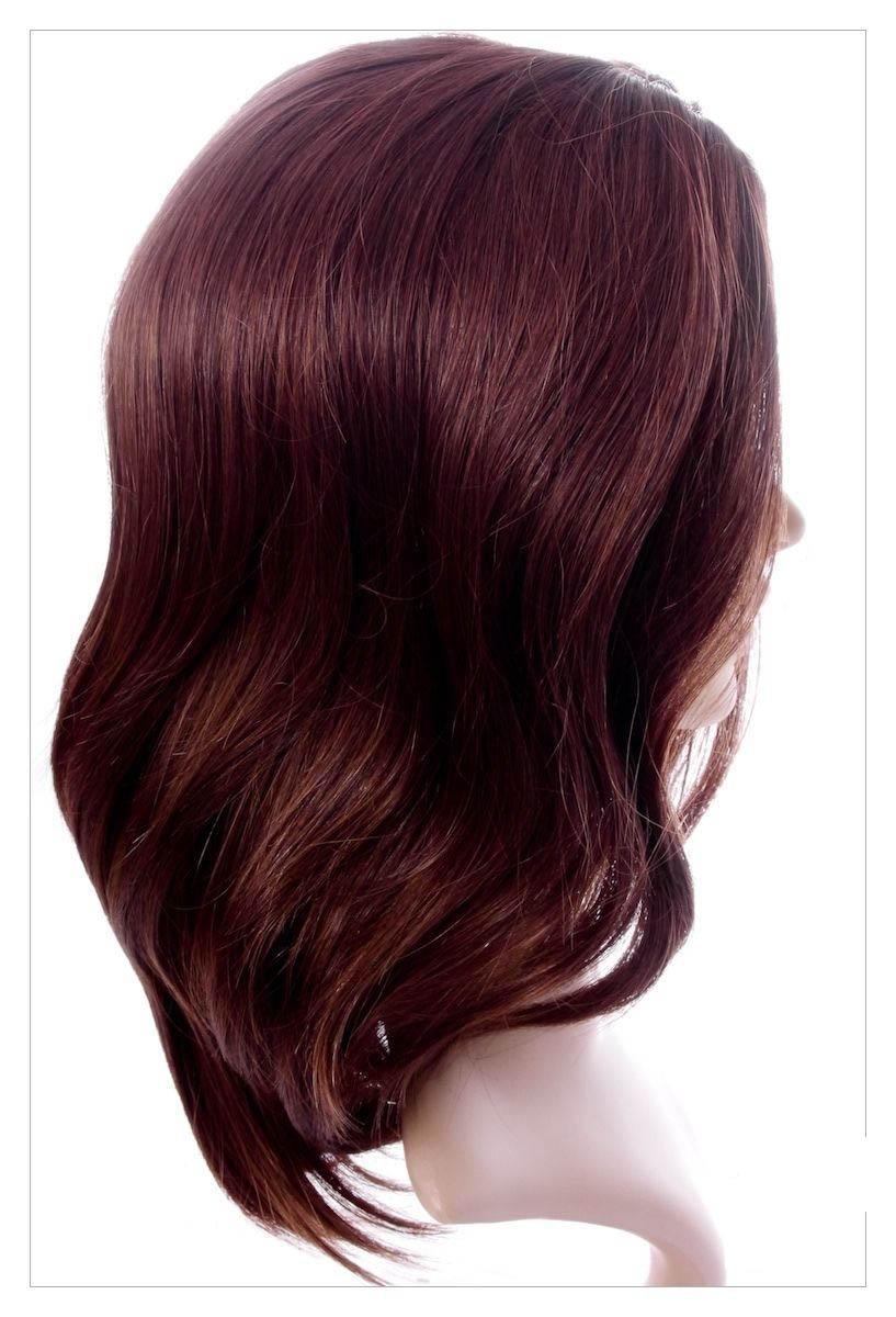 Amazing Dark Brown Auburn Mix Lady Wig! Wigs UK!-1615