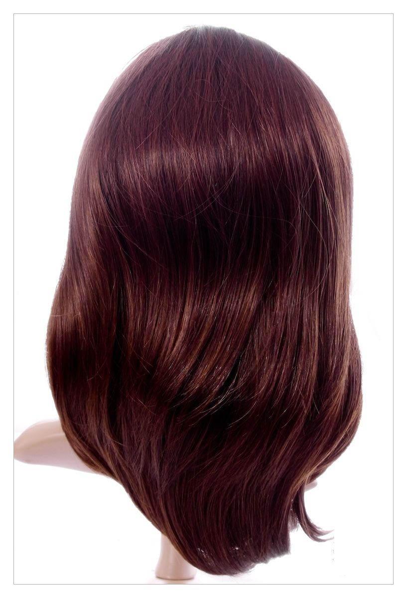 Amazing Dark Brown Auburn Mix Lady Wig! Wigs UK!-1617