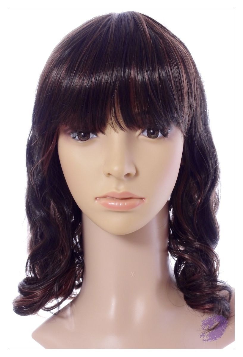 Amazing Dark Brown Auburn Mix Lady Wig! Wigs UK!-0