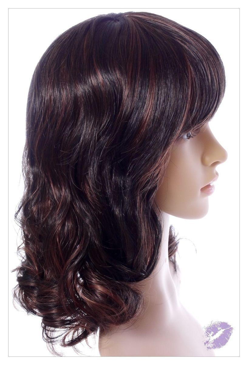 Amazing Dark Brown Auburn Mix Lady Wig! Wigs UK!-1523