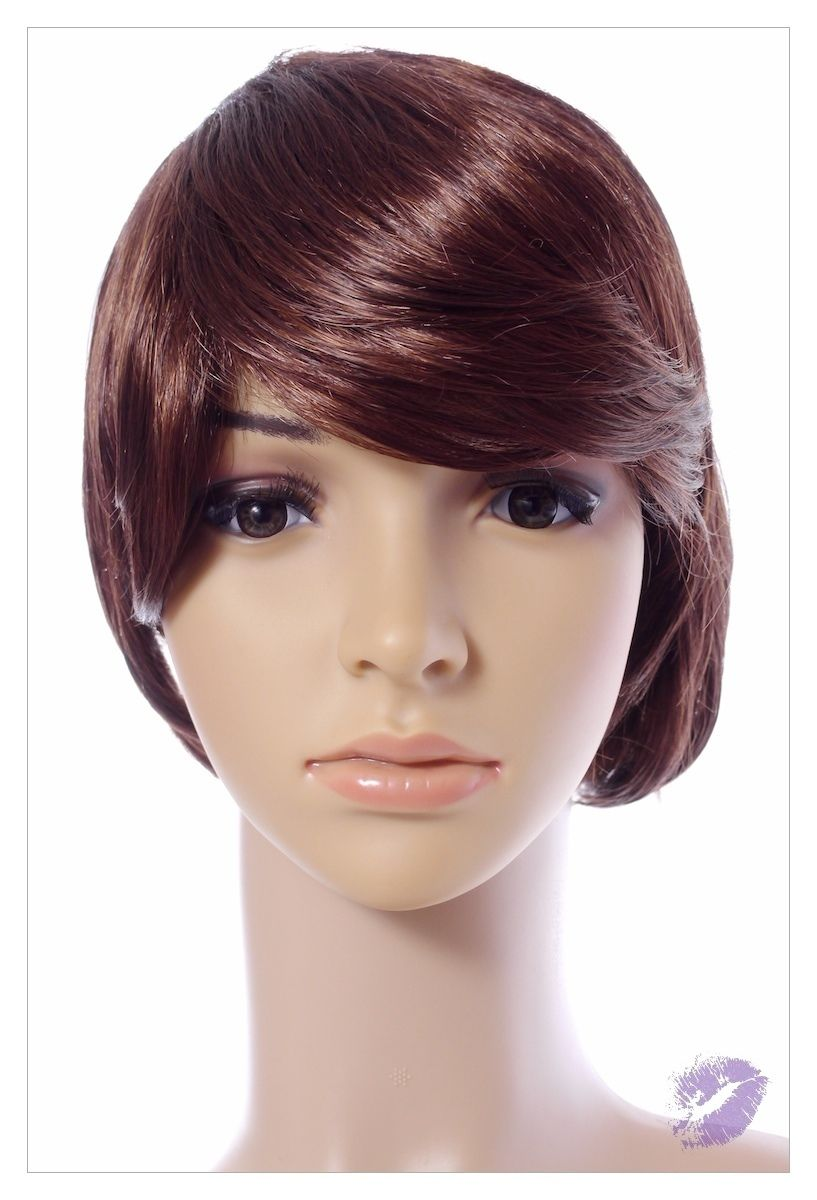 Bob Style Medium Ladies Wig Black Brown Blonde Faceframe Lady Wigs UK Shipping-0