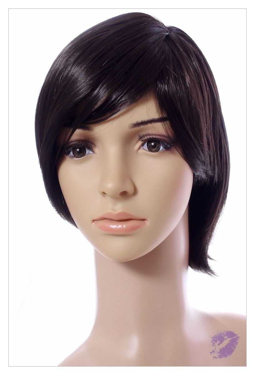 BOB STYLE Jet Black Short Lady Wig! Wigs UK-0