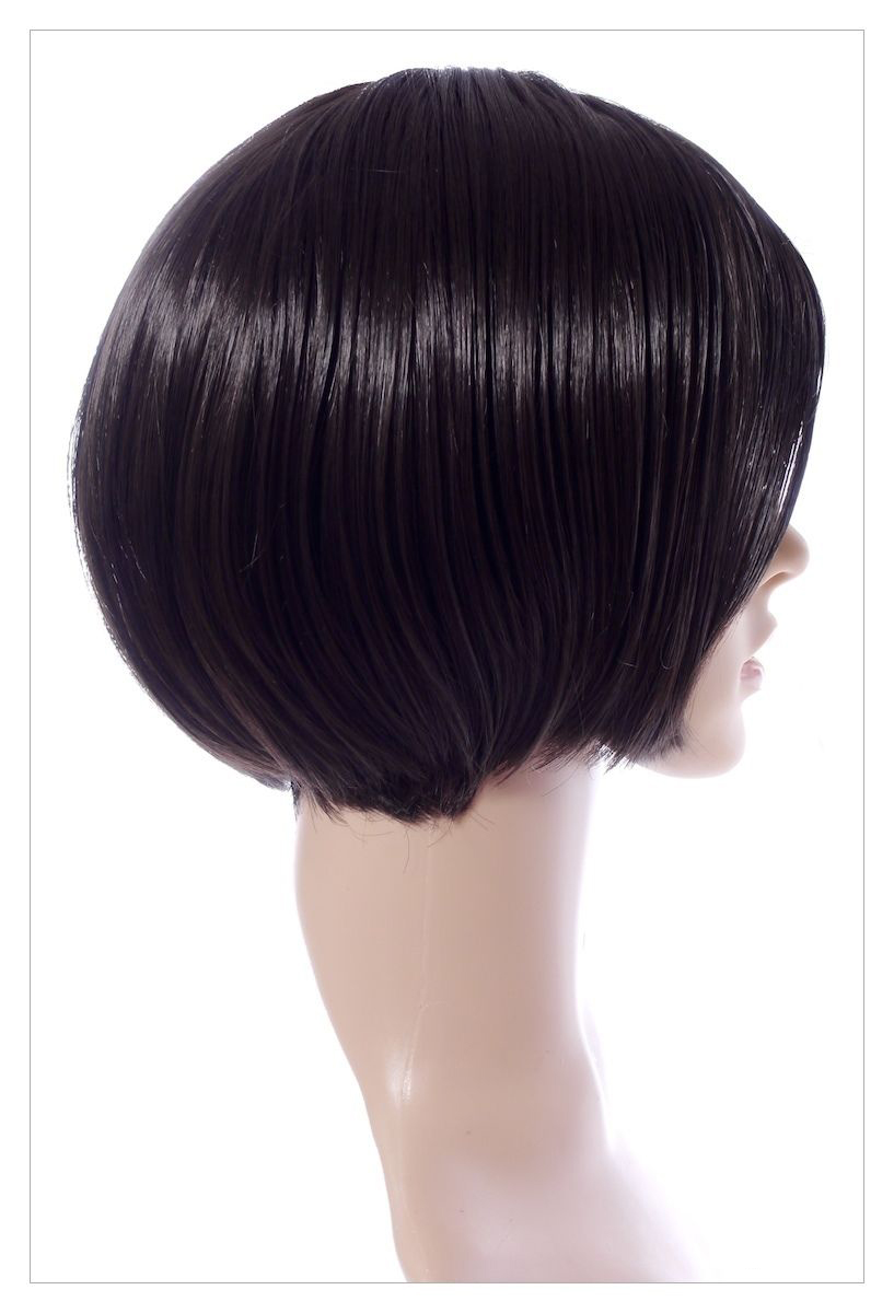 BOB STYLE Jet Black Short Lady Wig! Wigs UK-1394