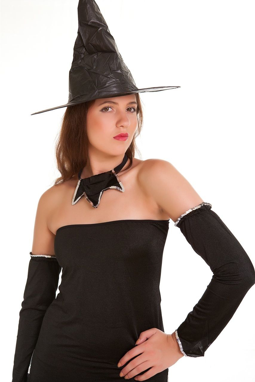 Ladies Fancy Dress Costume Outfit Witch Halloween-1067