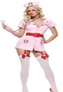 NEW Adult Sexy Scrub Nurse Costume Uniform Ladies Fancy Dress Costume Hen Party Outfit!