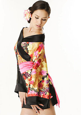 Japanese Geisha Japan Ladies Fancy Dress Costume-0