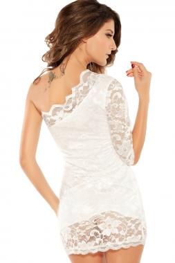 One Sleeve Open Shoulder Mini Dress-2053