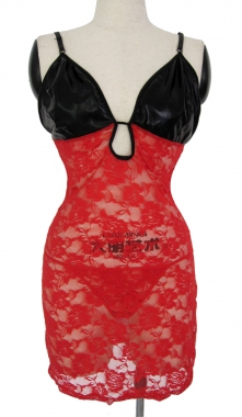 Plus Size Red Ella Chemise Set-0