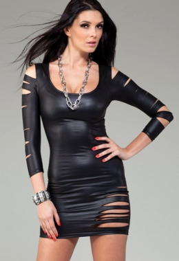 Cut Out Long Sleeved Dress