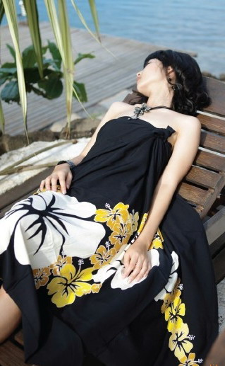 Womens Beach Towel Sarong Gauze-2089