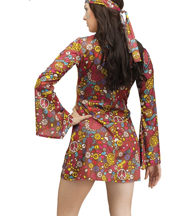 hippie 60s Costume Back