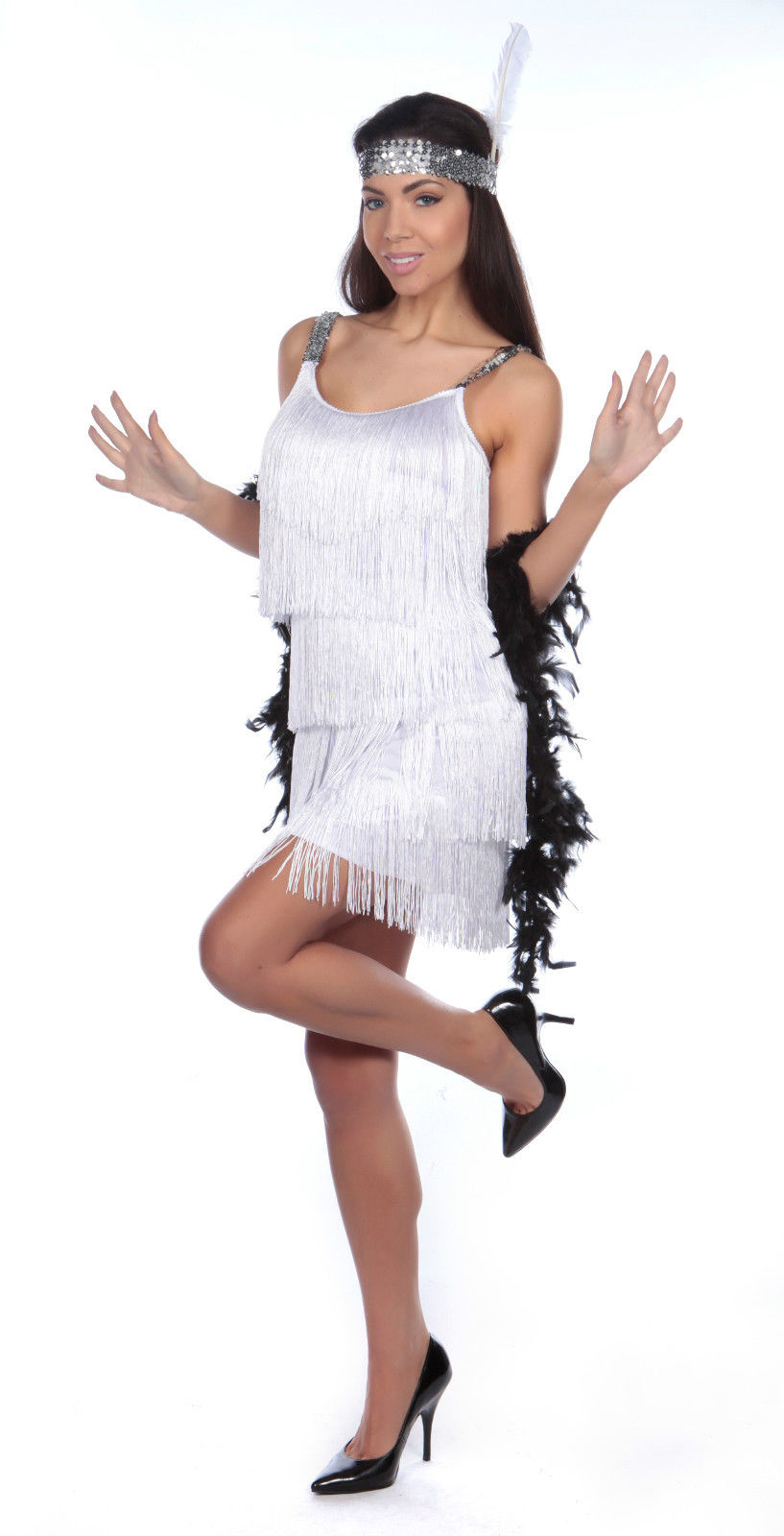 Ladies 1920's Flapper Dress Front