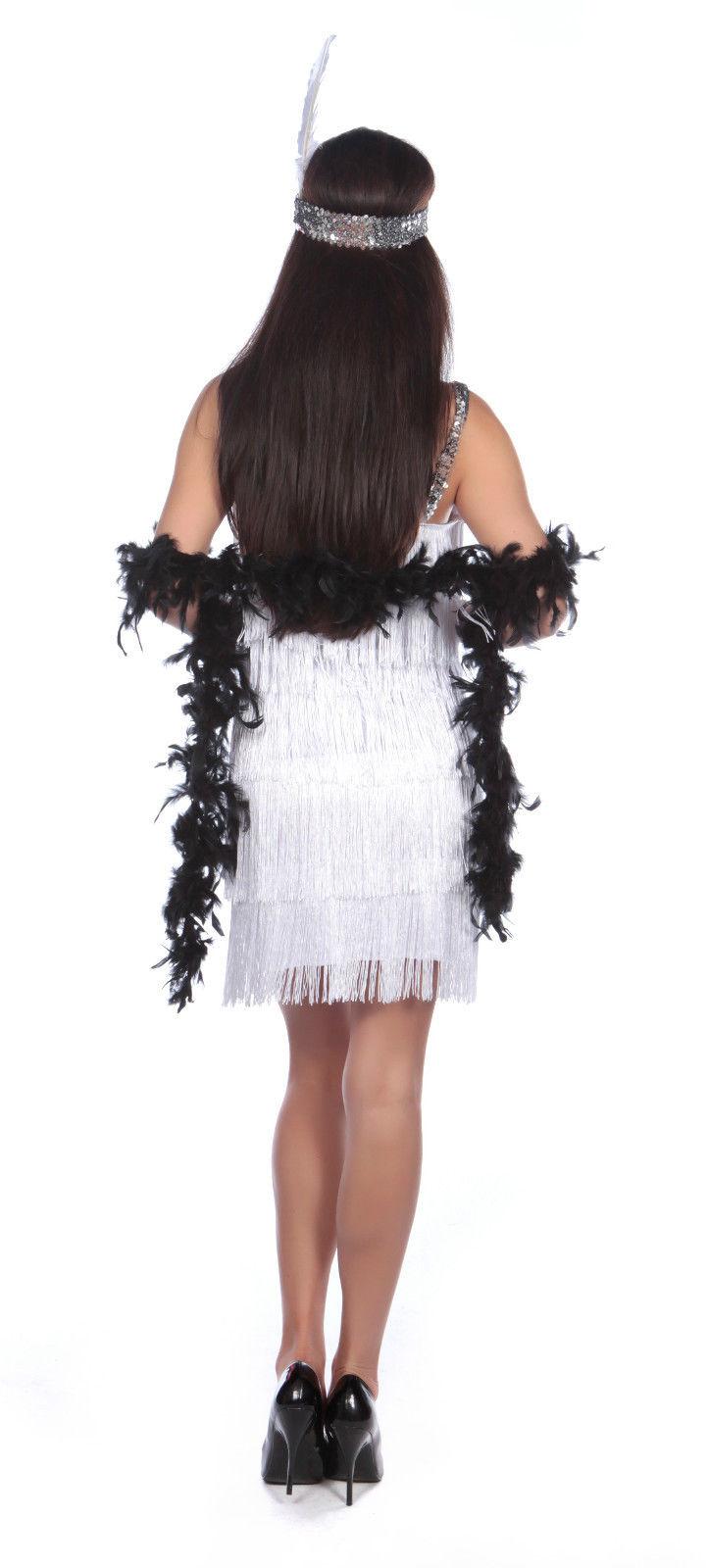 Ladies 1920's Flapper Dress Back