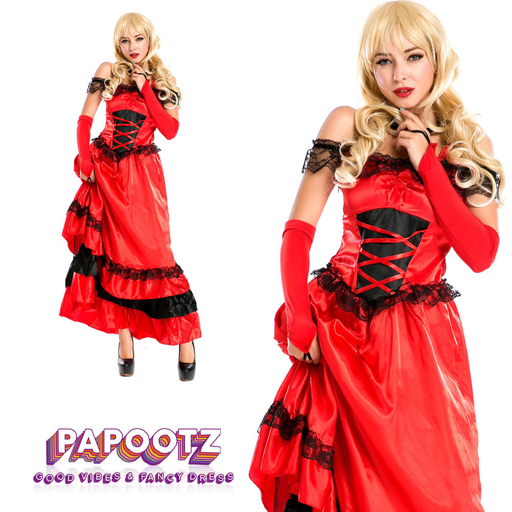 Adult Ladies Spanish Senorita Fancy Dress Flamenco Dancer Costume UK Sizes 8-16 Main