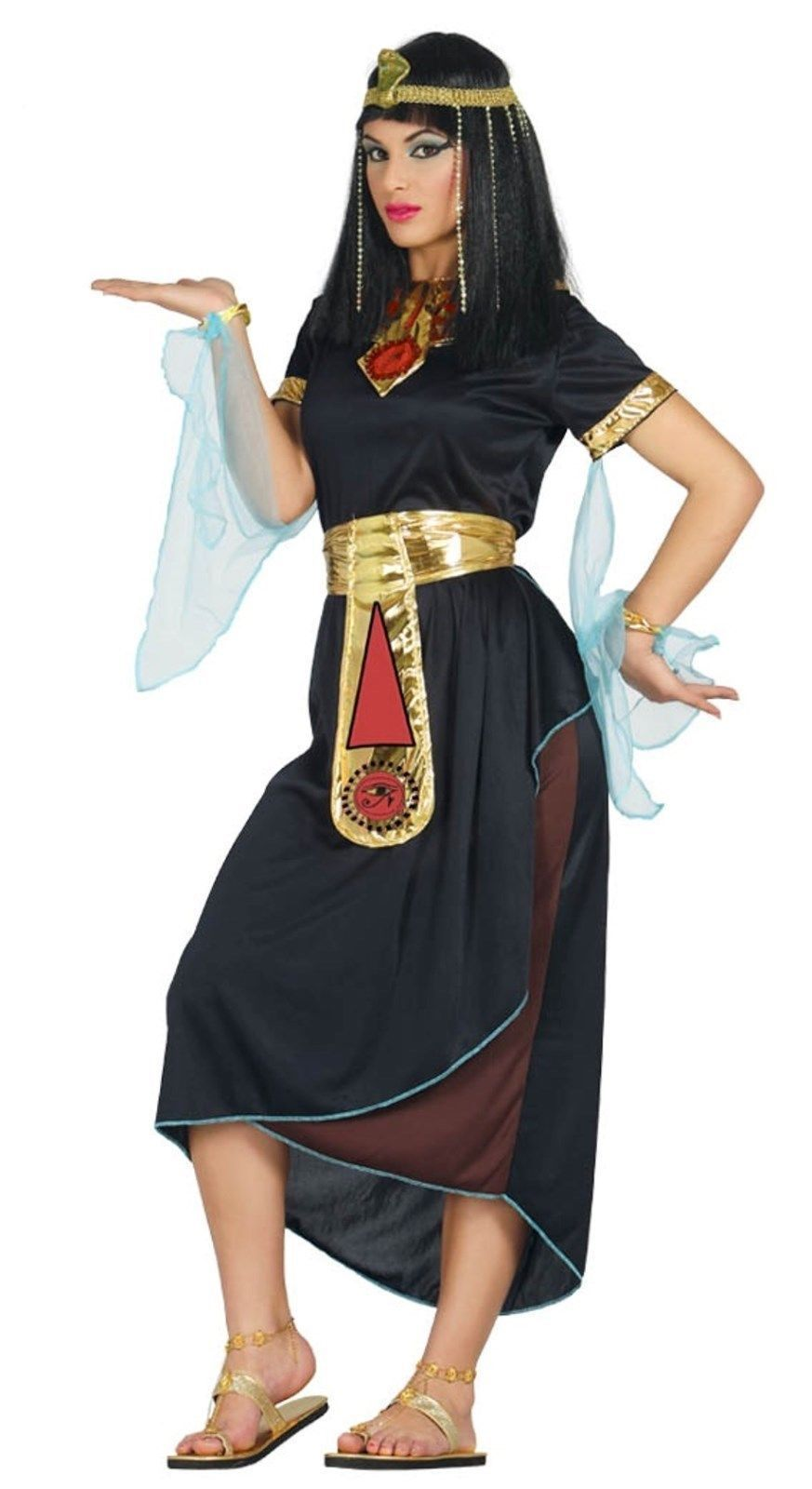 Adult Cleopatra Costume Egyptian Queen Greek Goddess Fancy Dress