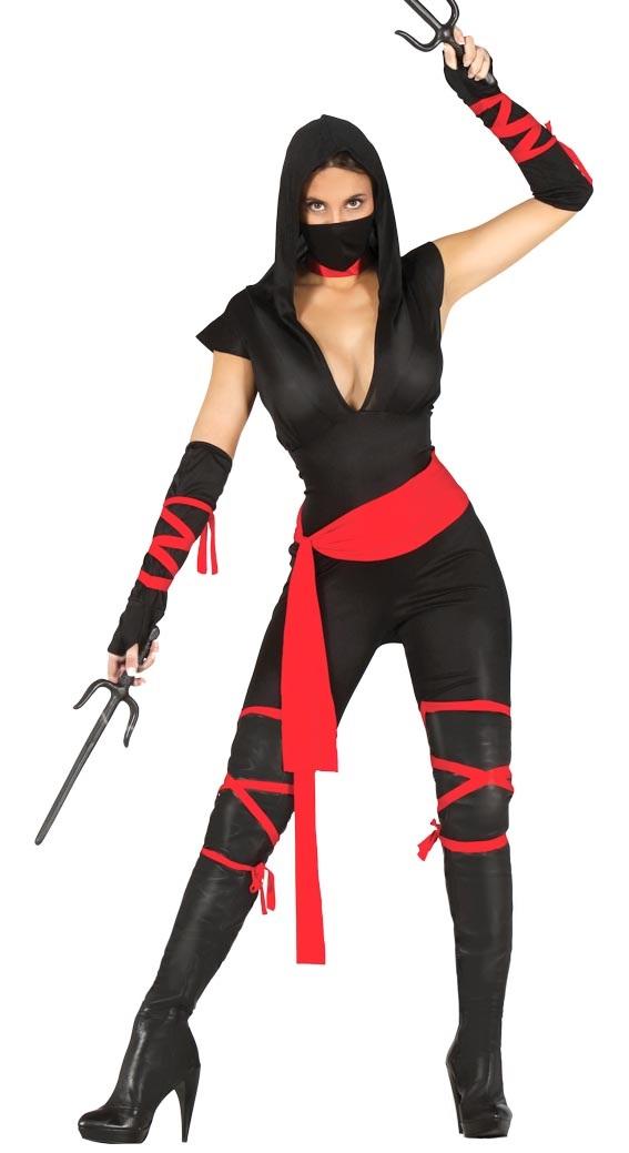 Black Ninja Warrior Lady Costume