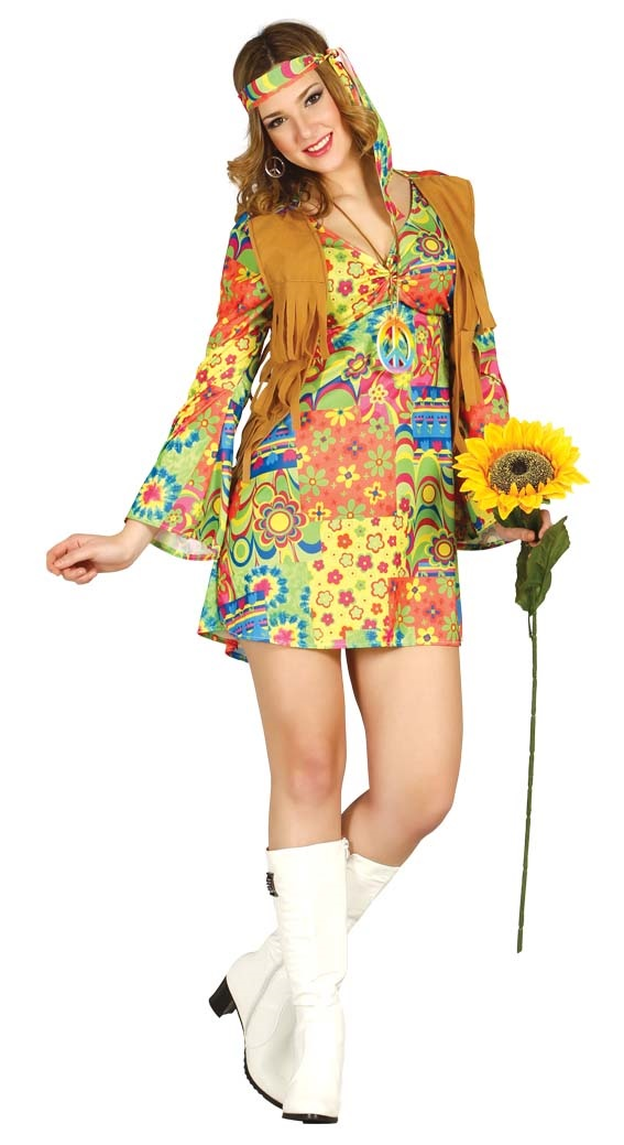 Flower Power Hippie Retro Costume Dress