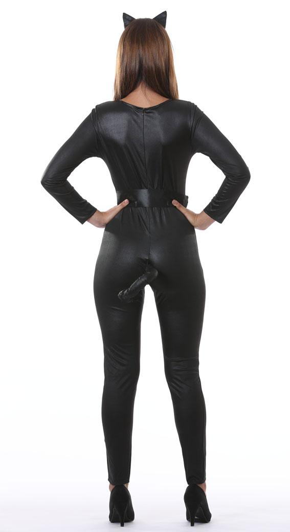 Black Cat Kitty Costume back