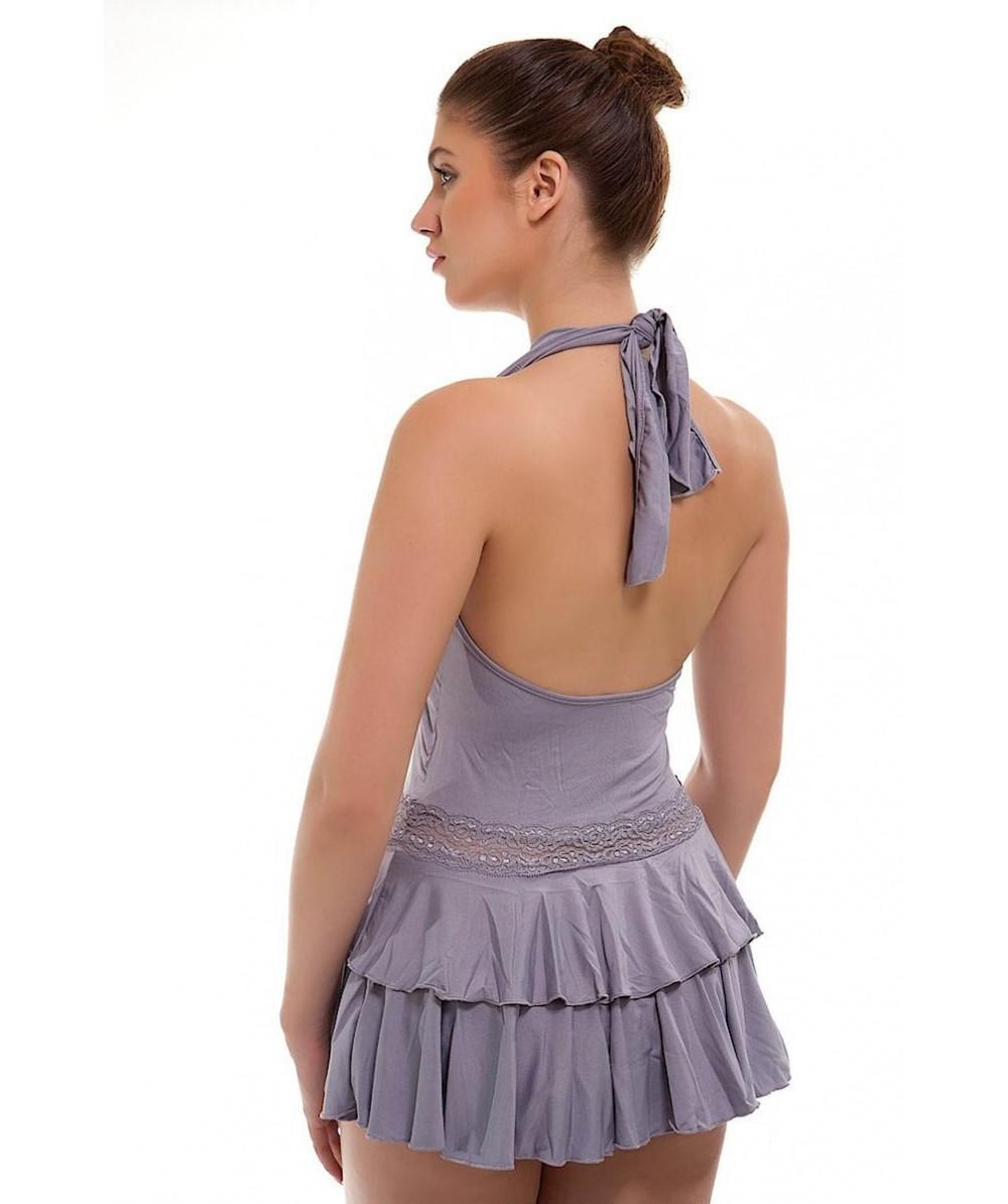 Sexy Short Grey Rara Skirt Skater back