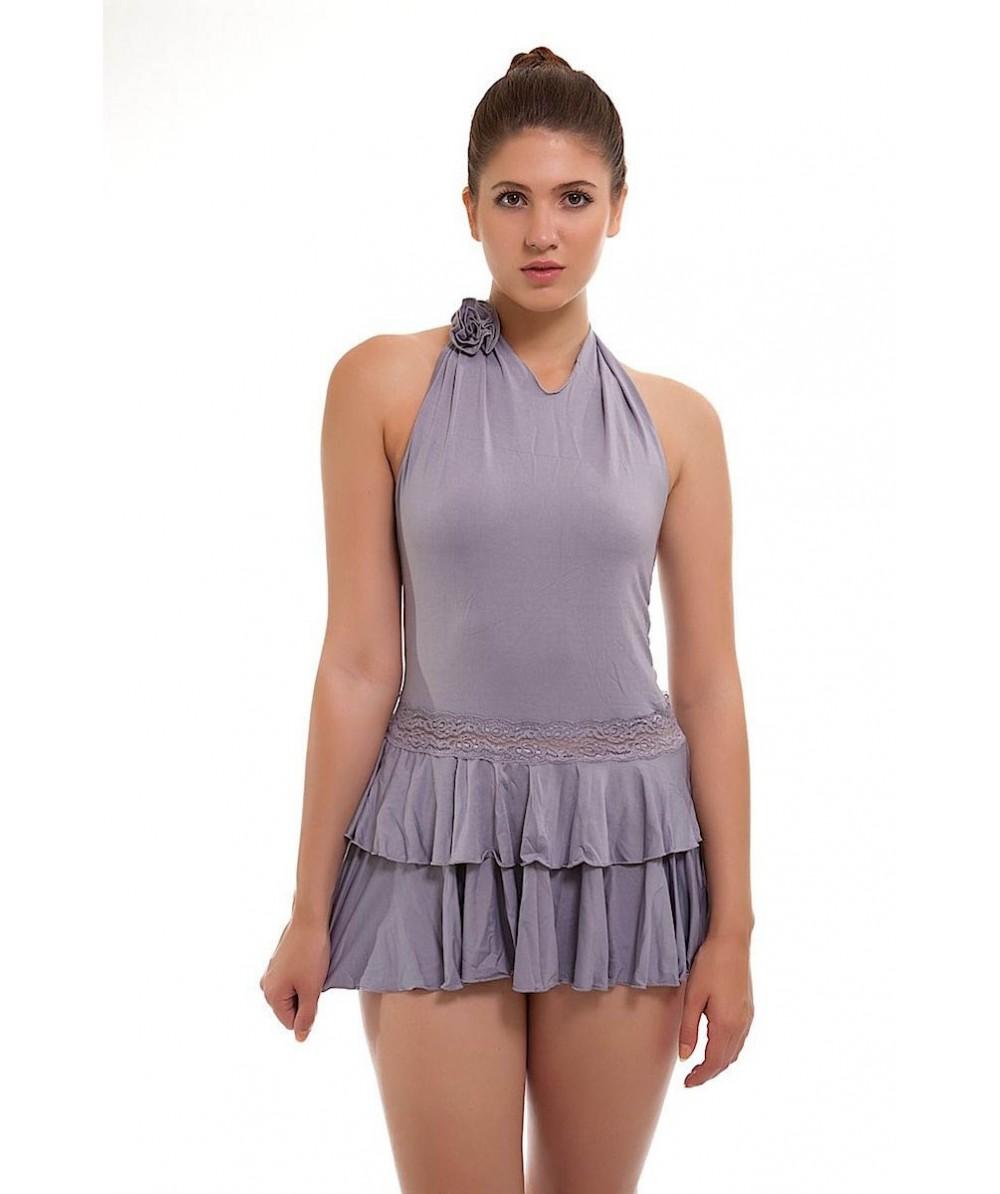 Sexy Short Grey Rara Skirt Skater
