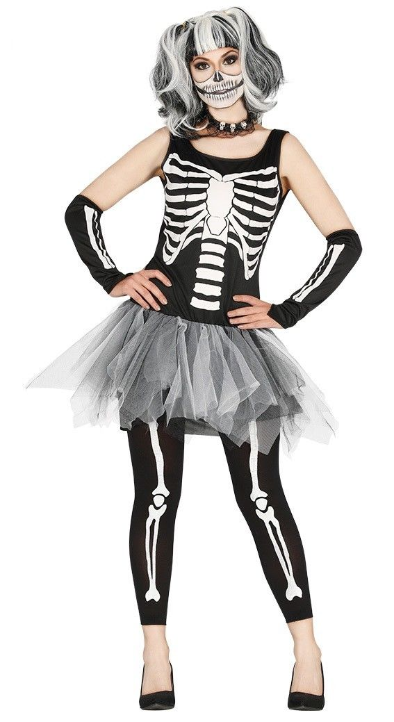 Skeleton Bones Tutu Dress