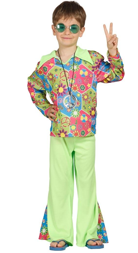 Child Hippy Costume Boys Hippie Fancy Dress Kids 60s 70s Book Week Outfit-0