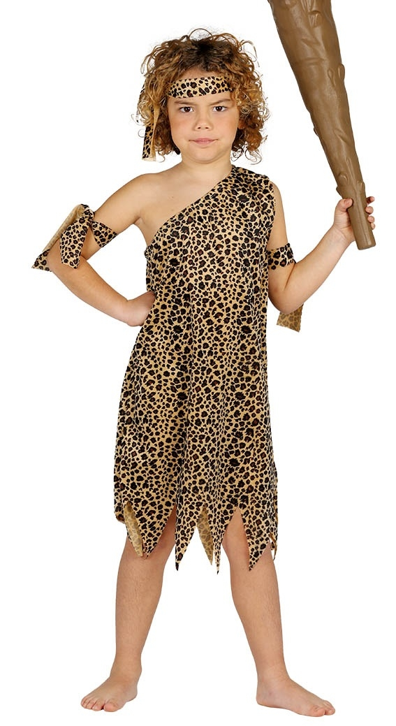 Boys Cave Boy Costume Childs Caveman Fancy Dress Kids Stone Age Book Week Outfit