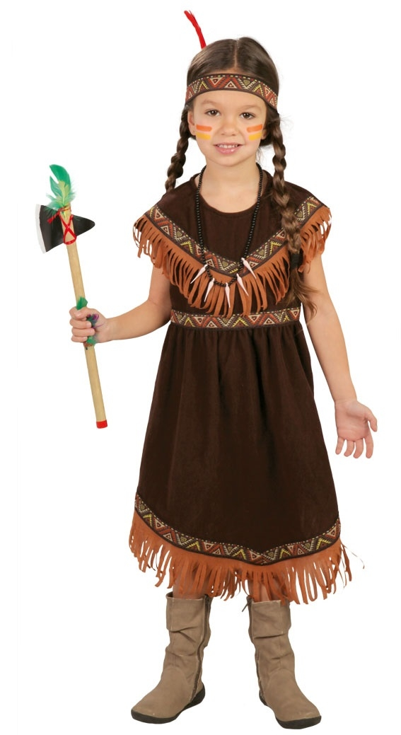 Child Red Indian Girls Costume Squaw Dream Catcher-0