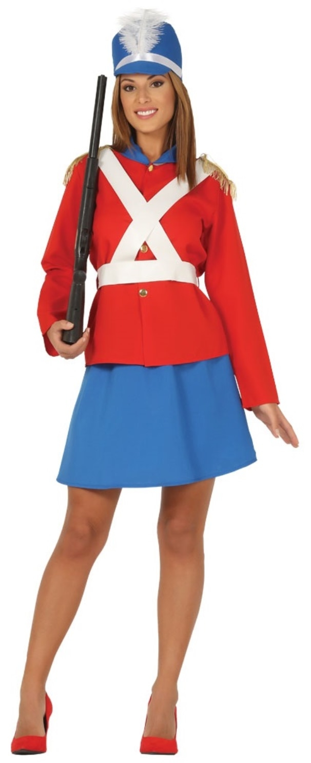 Christmas Nutcracker Mechanical Toy Soldier Majorette Ladies Fancy Dress Costume