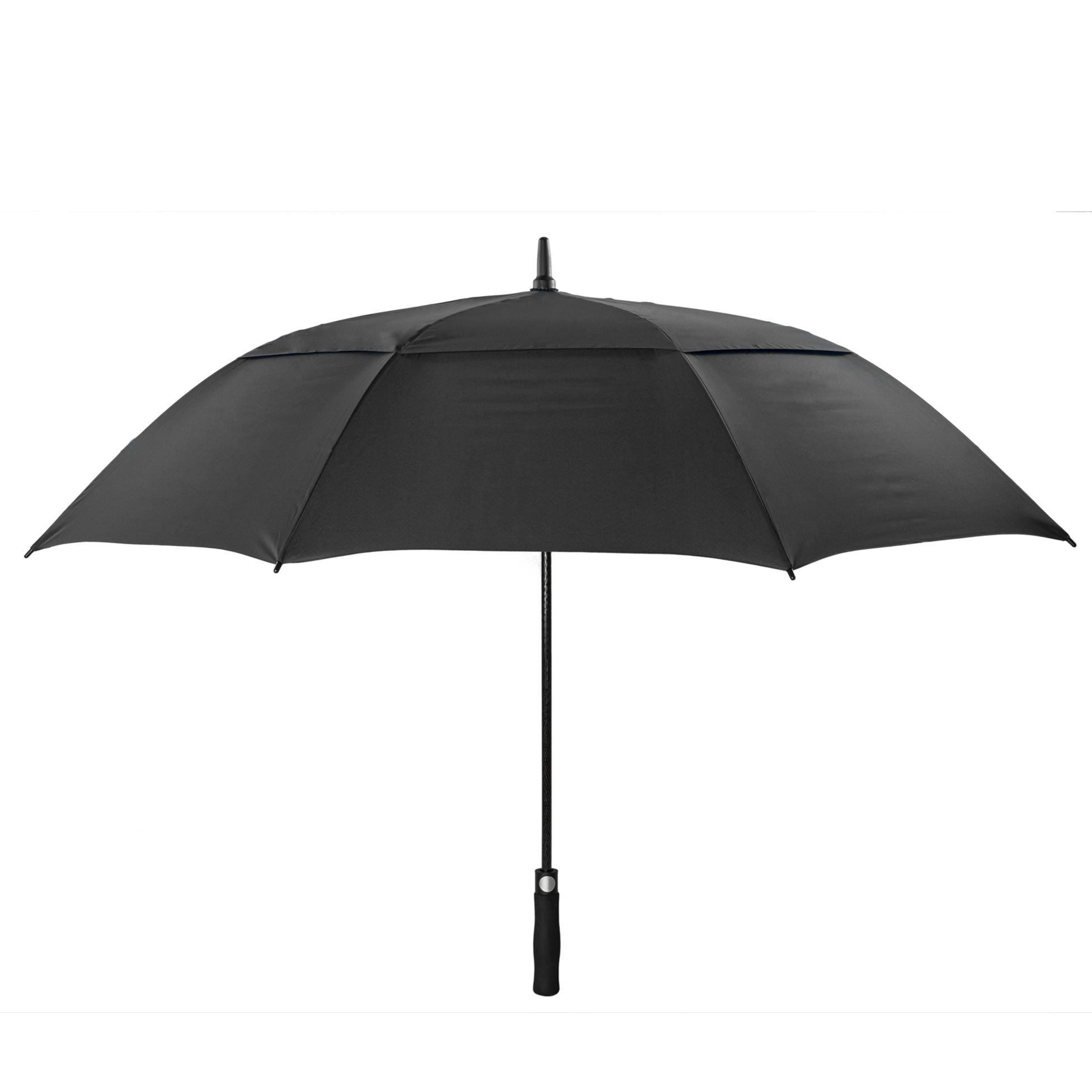 black stormproof umbrella