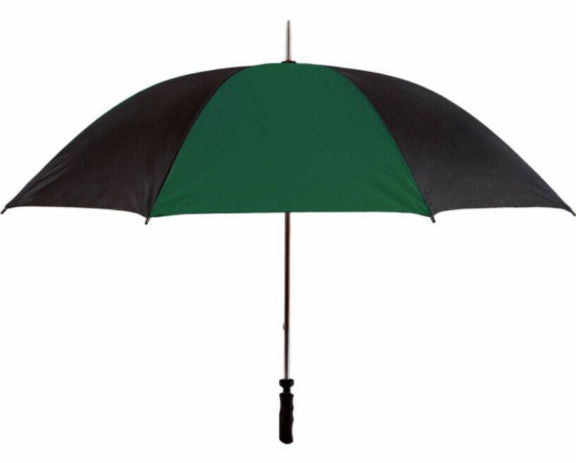 green golf umbrella view