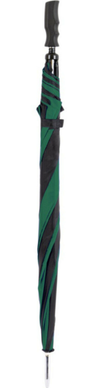 green golf umbrella walking stick