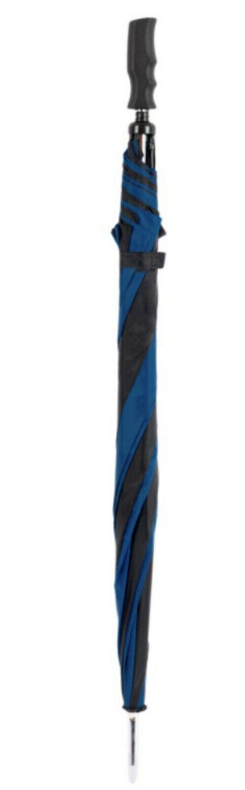 navy black walking umbrella
