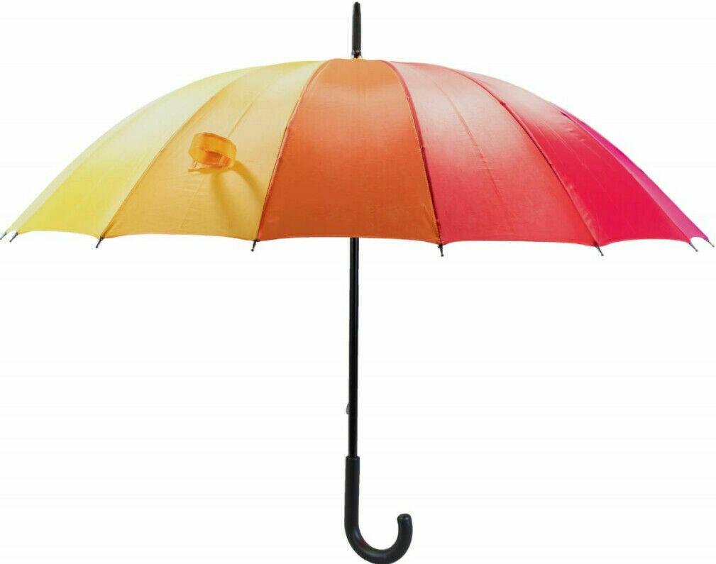 rainbow walking umbrella