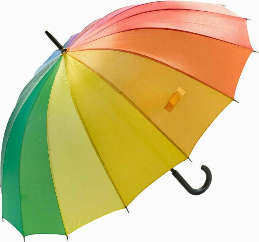 rainbow multicoloured umbrella