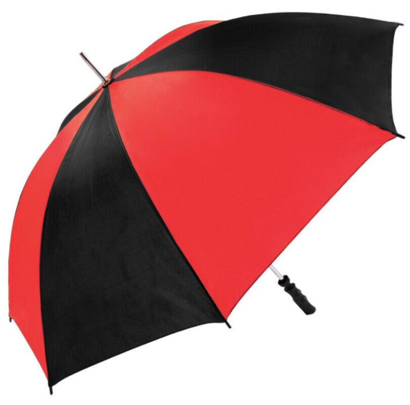 red black golf umbrella