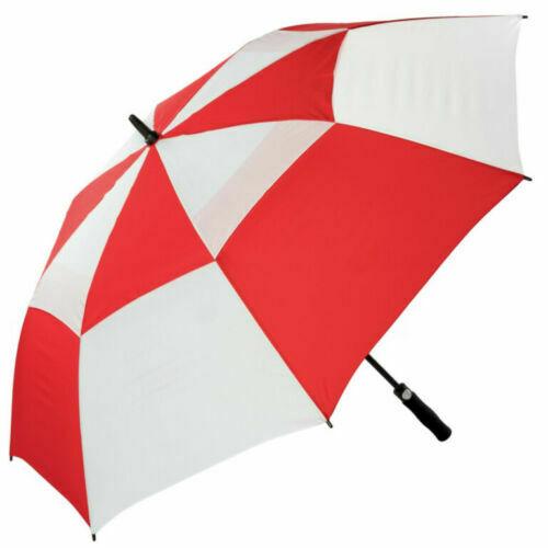 red/white golf umbrella