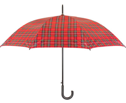 tartan walking umbrella