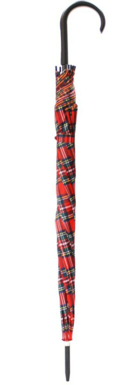red tartan walking stick