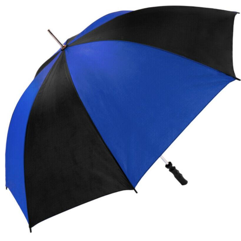 royal black golf umbrella view